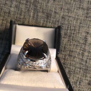 15CT Quartz Ring Size 8